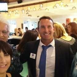 Right to left: Jon (Internations Ambassador), Sean (South Florida Irish American Chamber - Miami), Bill and Joyce.