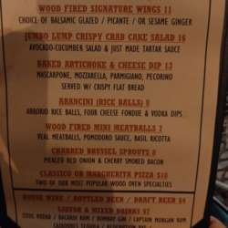 Special Happy Hour (HH) menu for InterNations event at Wood & Fire.